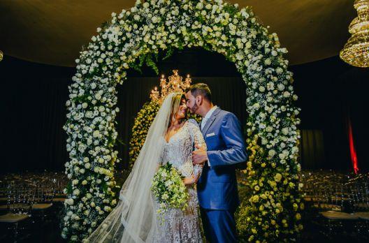 Treissi & Fábio: Enlace do casal é marcado pelo amor e cumplicidade