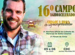 16° Campo Agroacelerador está chegando