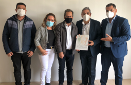 Ex-deputado Mário Marcondes visita prefeito Anibal Brambila