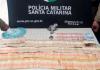 Após perseguição, PM apreende maconha, ecstasy e mais de R$ 10 mil em SC