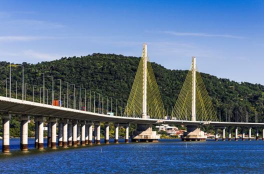 CCR ViaCosteira: Ponte Anita Garibaldi entra no clima das Olimpíadas