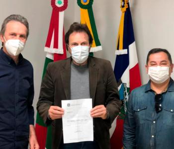 Deputado Pedro Uczai visita prefeito de Araranguá