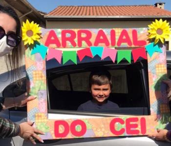 Arraial e Drive Thru Julino integram comunidade escolar de Maracajá