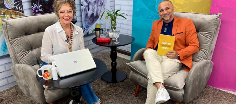 Gian Silva lança livro com mais de cinco mil frases e volta ao TV Sul Mulher pra mais um bate papo inspirador