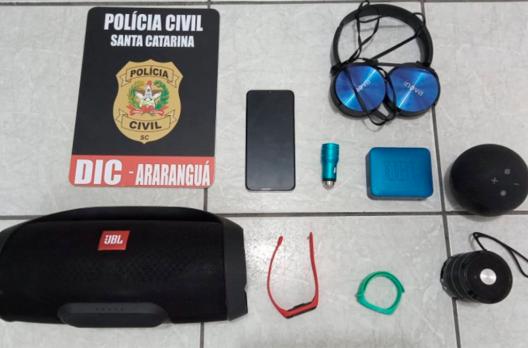 Polícia Civil elucida assalto em Maracajá e recupera objetos roubados por criminosos