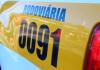 Ciclista fica gravemente ferido após ser atropelado na SC-285 em Ermo