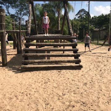 Alunos de Natação do Grêmio Fronteira passeiam no Parque Ecológico do Maracajá