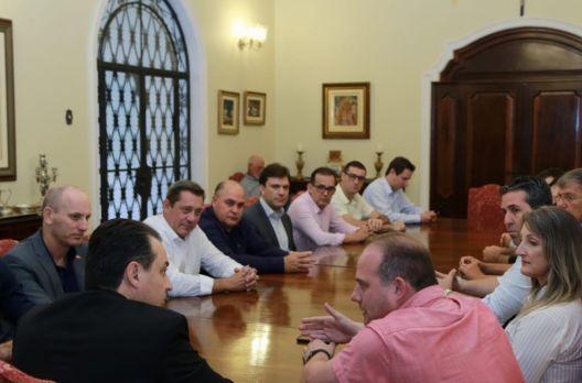 Ao governador ficou a impressão de que Criciúma pode ter 'chapão'