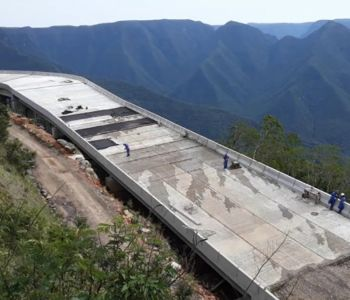 DNIT dá continuidade às obras da BR-285/RS/SC em Timbé do Sul/SC