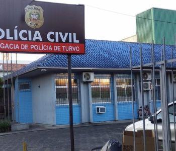 Polícia Civil de Turvo prende estrupador ao atender ocorrência de violência doméstica