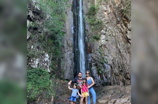 Programa em Família na Cachoeira do Bizungo