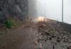 Barreira cai e deixa trânsito em meia-pista na Serra do Rio do Rastro