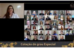 Emoção, homenagens e comemoração em mais uma formatura virtual da Unesc