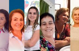 Seis mulheres disputam majoritárias em nossa região