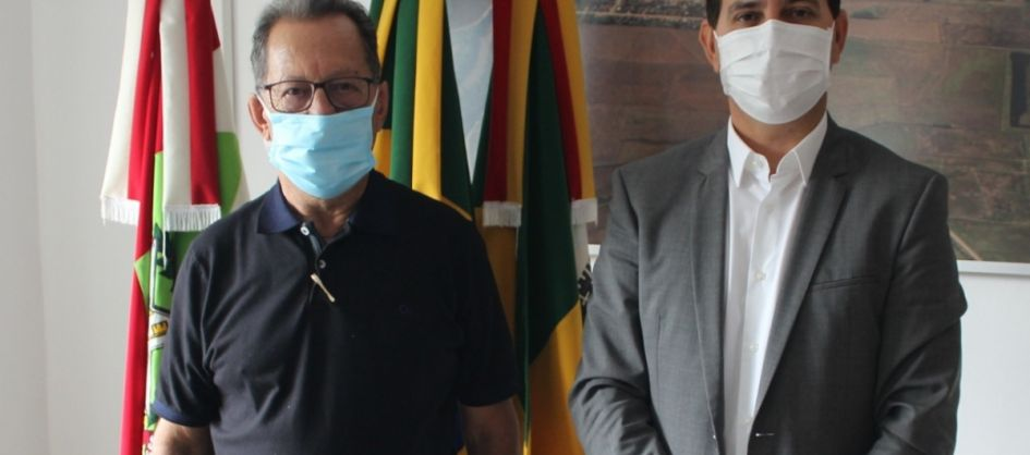 Prefeito Anibal  Brambila se reúne com o ex-prefeito de Ma...