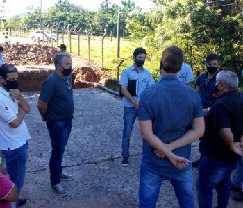 Agendada reunião sobre ponte desabada no limite entre Turvo e Meleiro