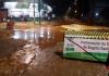 Criciúma: Cratera se abre em trecho em obras na avenida Santos Dumont