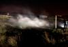Residência de madeira é destruída por incêndio em Balneário Arroio do Silva