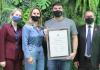 Professor da Unesc premiado pela Fapesc recebe Moção de Aplauso da Câmara de Vereadores